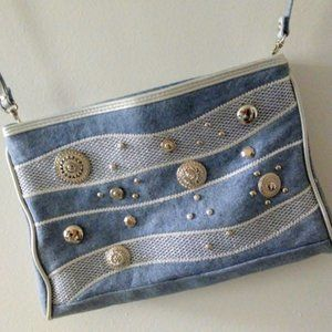 WARREN REED Vintage  Denim Purse